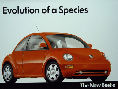 RETRO VW BUG, THIS SIGN IS OUT OF PRINT WITH ONLY TWO LEFT