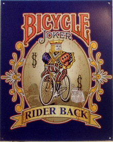 Photo of BICYCLE JOKER CARD SIGN