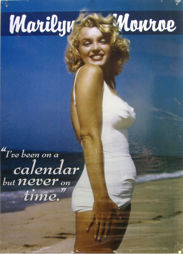 "THIS  COLORFUL VINTGE MARILYN MONROE SIGN MEASURES APOX. 12"" W X 16 1/2"" H WITH HOLES IN EACH CORNER FOR EASY MOUNTING.  WE UNDERSTAND IT WAS TAKEN AT JONES BEACH, NY"