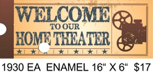 "Sign Size: 16"" w X 6"" h With Pre-drilled Hole(s) for easy hanging Material: ENAMEL FINISH ON HEAVY METAL GREAT GRAPHICS AND VINTAGE COLORS MAKE THIS A GREAT ADDITION TO ANY MOVIE OR THEATRE AREA IN YOUR HOME OR ELSEWHERE."
