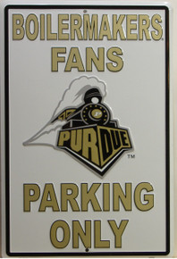 BOILERMAKER FANS EMBOSSED COLLEGE SIGN