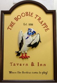 Photo of BOOBIE TRAPPE TAVERN & INN 3-D WOOD PUB SIGN MAKE IT A GREAT ADDITION TO YOUR BAR OR REC ROOM