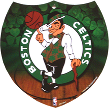 Photo of BOSTON CELTICS BASKETBALL SMALL INTERSTATE SHAPED SIGN GREAT ADDITION FOR ANY CELTICS FAN'S COLLECTION