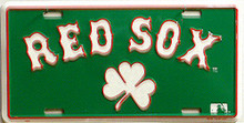 Photo of BOSTON RED SOX CLOVER LICENSE PLATE