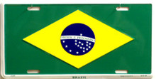 Photo of BRAZIL FLAG LICENSE PLATE