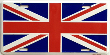 Photo of BRITISH UNION JACK LICENSE PLATE