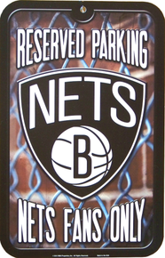 Photo of BRONX NETS BASKETBALL FANS PARKING ONLY SIGN, GREAT CONTRAST AND DETAIL MAKE THIS A GREAT ADDITION TO ANY NETS FANS COLLECTION