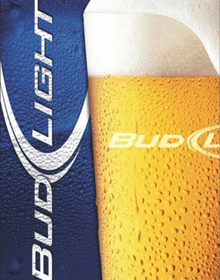 Photo of BUD LIGHT BEER SIGN, CRISP BOLD COLORS AND DETAIL