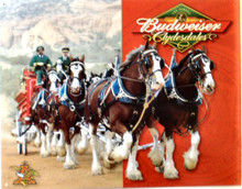 Photo of BUDWEISER CLYDESDALES PULLING THE BEER WAGAON GIVING AN ALMOST 3-D EFFECT, EXCEPTIONAL COLOR AND GREAT DETAILS MAKE THIS A PERFECT ADDITION TO ANY COLLECTION