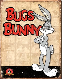 BUGS BUNNY RETRO PANELS SIGN, HAS GREAT COLOR AND DETAIL AND IS A MUST FOR ANY BUGS BUNNY FAN'S COLLECTION