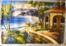 Photo of BY THE SEA OIL PAINTING