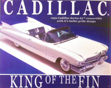 "Photo of CADILLAC ""KING OF THE FIN"" METAL SIGN"