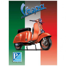 RICH ITALIAN FLAG COLORS IN THE BACKGROUND, DURABLE ENAMEL FINISH