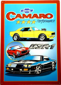 Photo of CAMARO 4 STAR PERFORMANCE DRAWING OF THREE OF THE GREAT CAMAROS