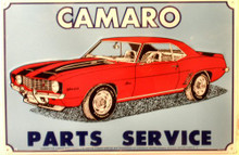 Photo of CAMARO PARTS & SERVICE AN EARLY PARTS & SERVICE SIGN