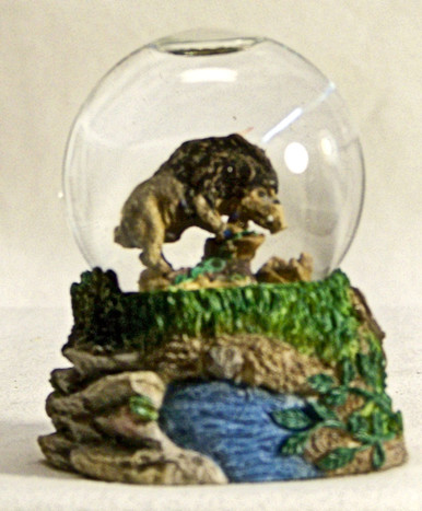 "MINI GLITTER GLOBE WILD BOAR  MEASURES 2"" X 2"" X 2 5/8"" RESIN ONLY 3 LEFT"