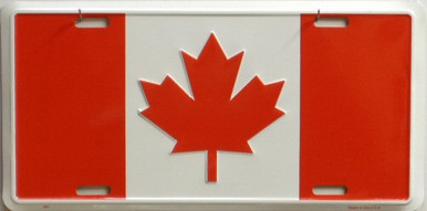 Photo of CANADA FLAG LICENSE PLATE