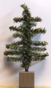 "MINI-EVERGREEN CHRISTMAS TREE MEASURES 3 1/4"" X 3 1/4"" X 5 5/8"""