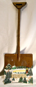 "ON GOLDEN POND CHRISTMAS SHOVEL DECORATION  MEASURES 7 1/8"" X 3/4"" X 20 1/4""  WOOD & METAL"
