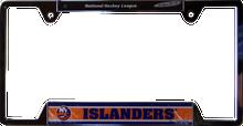 "NEW YORK ISLANDER METAL LICENSE PLATE FRAME  MEASURES 12 1/4"" X 1/4"" X 6 1/4"""