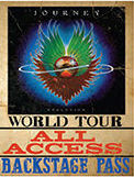 "JOURNEY ALL ACCESS VINTAGE TIN SIGN MEASURES 12"" X 15"" WITH HOLES FOR EASY MOUNTING"