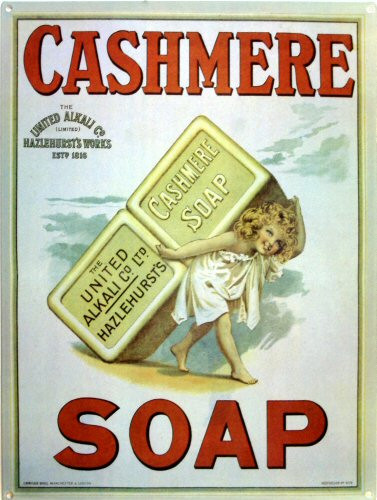 Photo of CASHMERE SOAP ENAMEL SIGN, GREAT COLORS AND CUTE GRAPHICS