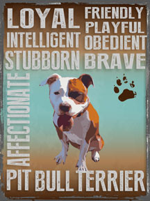 """PITBULL VINTAGE ENAMEL SIGN ON HEAVY METAL MEASURES 12"""" X 16"""" AND HAS HOLES IN EACH CORNER FOR EASY MOUNTING"""