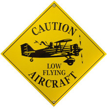 Photo of CAUTION (Low Flying Aircraft) PORCELAIN SIGN GREAT FOR THE PILOT OR ASPIRING AVIATORS