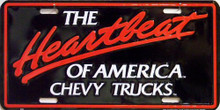 Photo of CHEVY HEARTBEAT OF AMERICA LICENSEPLATE