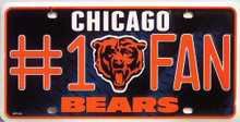 Photo of CHICAGO BEARS #1 FAN LICENSE PLATE