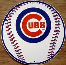 Photo of CHICAGO CUBS BASEBALL, ROUND BASEBALL GRAPHICS SIGN