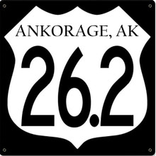 ANCHORAGE MARATHON SIGN, 24 GAGUE STEEL FULLY CUSTOMIZABLE S/O