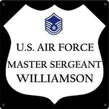 U.S.. AIR FORCE FULLY CUSTOMIZABLE ENAMEL SIGN S/O
