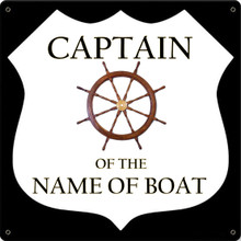CAPTAIN BOAT FULLY CUSTOMIZABLE ENAMEL SIGNS S/O*