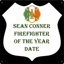 IRISH FIREFIGHTER FULLY CUSTOMIZABLE ENAMEL SIGN S/O*