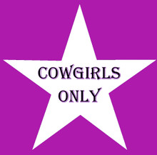COWGIRLS ONLY STAR DESIGN FULLY CUSTOMIAZBLE ENAMEL SIGN  S/O*