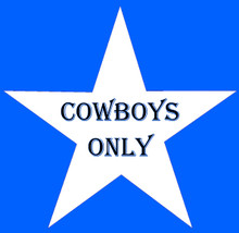 COWBYOYS ONLY STAR DESIGN CUSTOMIZABLE ENAMEL SIGN  S/O