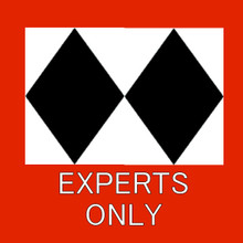 SKI TRAIL EXPERT FULLY CUSTOMIZABLE ENAMEL SIGN  S/O