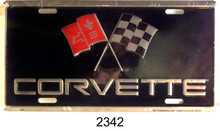 "METAL LICENSE PLATE MEASURES 12"" X 6"" WITH SLOTS FOR EASY MOUNTING."