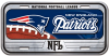"""METAL DOMEDLICENSE PLATE MEASURES 12"""" X 6"""" WITH SLOTS FOR EASY MOUNTING."""