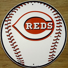 Photo of CINCINATTI REDS BASEBALL ROUND SIGN