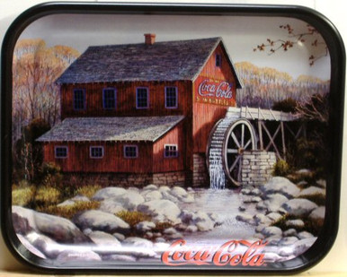 Photo of  OLD COCA-COLA MILL ON A METAL TRAY, GREAT NOSTALGIC TRAY WITH GREAT COLOR AND DETAILS