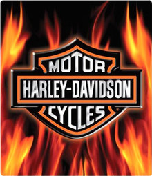 "GENUINE HARLEY DAVIDSON EMBOSSED TIN SIGN MEASURES 13"" X 15""  With holes for easy mounting."