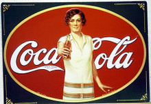 Photo of COKE FLAPPER GIRL, THIS COCA-COLA SIGN HAS THAT EARLY 1930'S LOOK