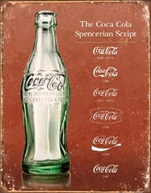Photo of COKE SCRIPT HISTORY SHOWING THE DIFFERENCES USED IN COCA-COLA SCRIPTS OVER THE YEARS