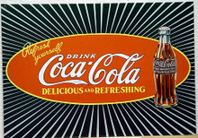 Photo of COKE STARBURST COCA-COLA SIGN LOOKS TO HAVE SOME DEPTH TO IT AS A RESULT OF THE GRAPHICS