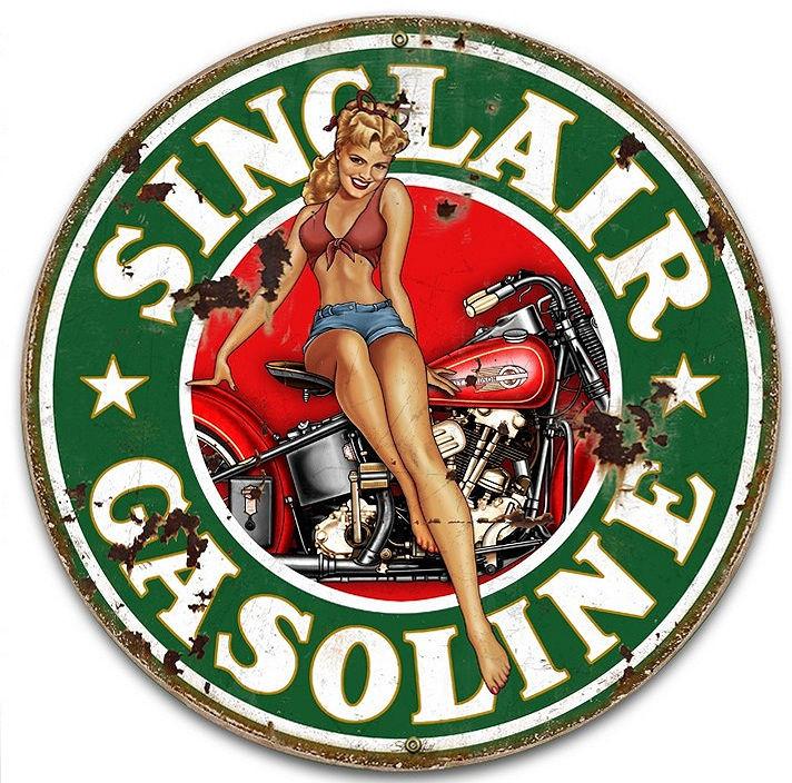 VINTAGE STYLE METAL SIGN Star Motor Gasoline 14 x 14