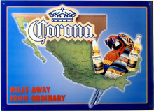Photo of CORONA PARROT, MAP OF MEXICO WITH A PARROT HOLDING 2 BOTTLES OF CORONA IN ITS CLAWS, THE MAP SHOWS DIFFERENT REGIONS OF MEXICO, GREAT DETAIL AND COLOR
