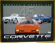 Photo of CORVETTE 45TH ANNIVERSARY TRIBUTE GREAT COLORS AND GRAPHICS.  THIS SIGN IS OUT OF PRODUCTION  WITH ONLY TWO LEFT IN STOCK