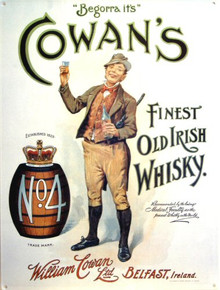 COWANS IRISH WHISKEY WITH FINE DETAILS AND VERY NICE COLORS